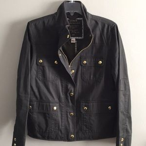 J CREW army green jacket LP